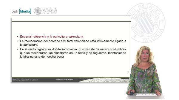 Referencia a la agricultura valenciana
