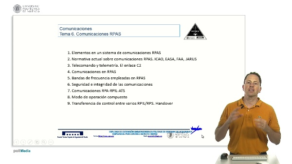 Máster pilotaje rpas. Introducción tema comunicaciones RPAS