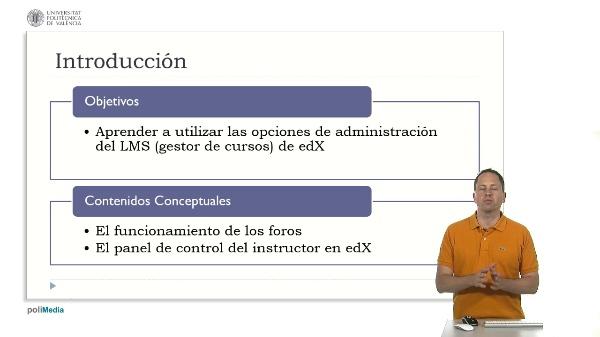 Las opciones de administracion del LMS. Introducción (2)