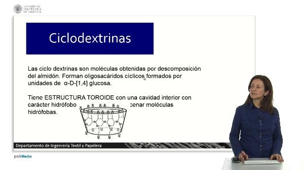 Sistemas de atrapamiento abiertos. Ciclodextrinas.