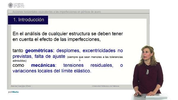 Acciones horizontales equivalentes a las imperfecciones en pórticos de acero.
