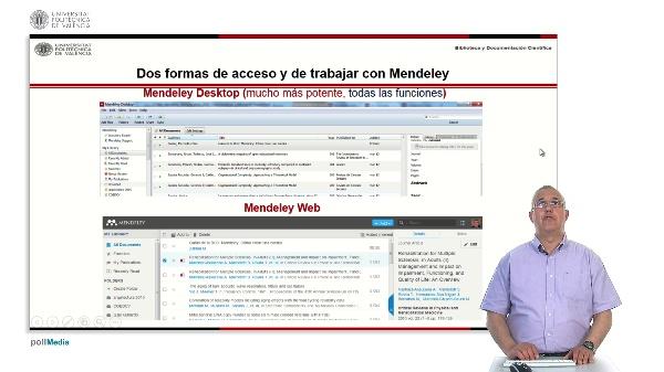 Gestión de referencias bibliográficas: Mendeley. Versión web.