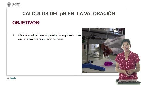 Lección 6. Cálculos del pH en la valoración.