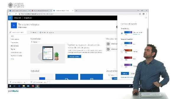 Cambiar la apariencia del sitio SharePoint