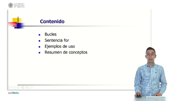 Implementación de bucles en C con for