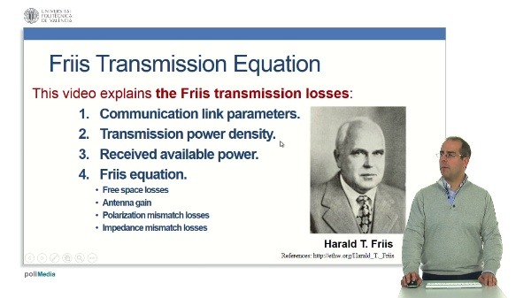 Friis Transmission Equation.