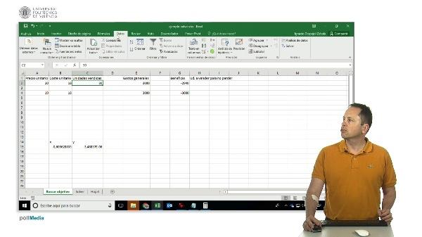 Excel. Buscar Objetivo