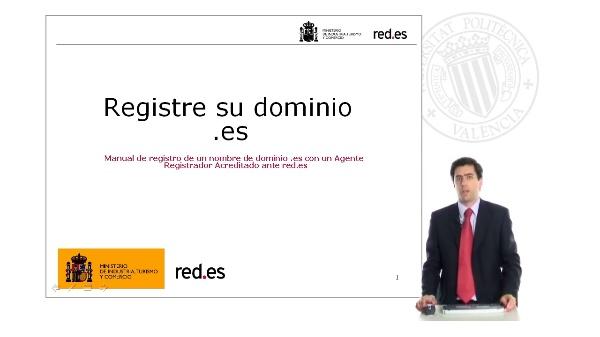Cómo registrar un domino .es - Ejemplo