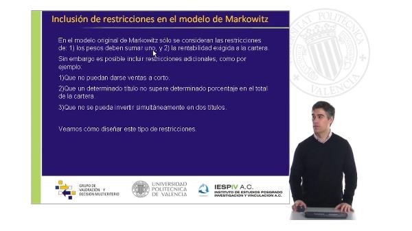 El modelo de Markowitz III