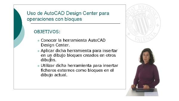 Uso de AutoCAD Design Center para operaciones con bloques