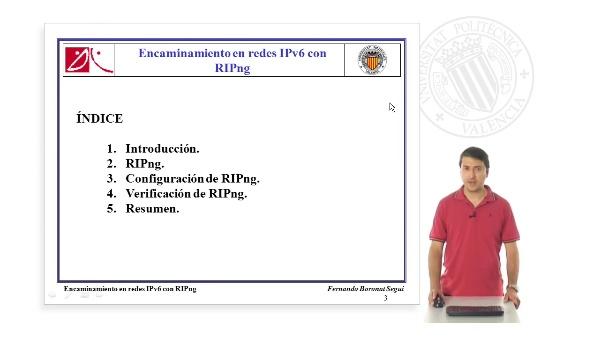 Encaminamiento en IPv6 RIPng