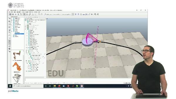 CoppeliaSim (V-REP): Demostración seguimiento de línea con evitación de obstáculos.