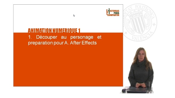 Animation numerique 1. Découper au personage et preparation pour A. After Effects