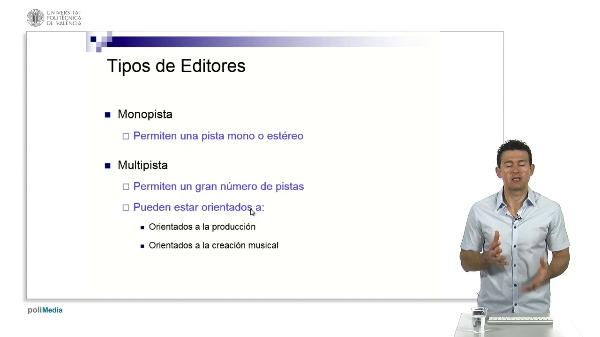 Tipos de editores de Audio