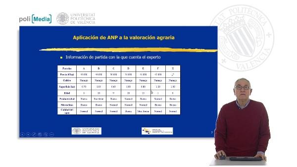 Aplicación de ANP a la valoración agraria