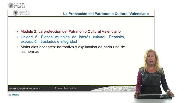 La protección del patrimonio cultural valenciano. Módulo 2. Unidad 6