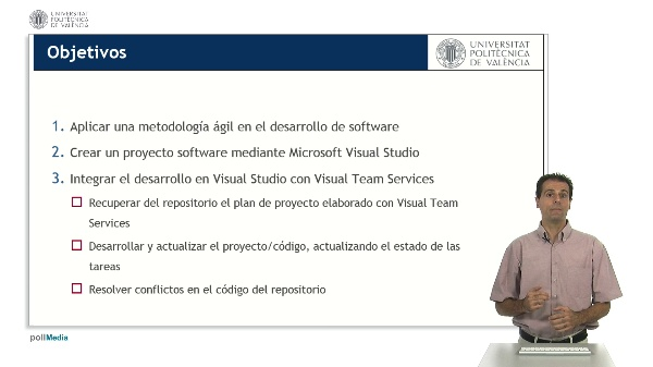 Desarrollo de software con Visual Studio. Integración con Visual Team Services.