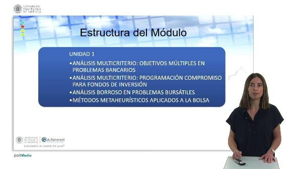 Contextualización Módulo Modelos Multicriterio Aplicados a la Gestión de Carteras.