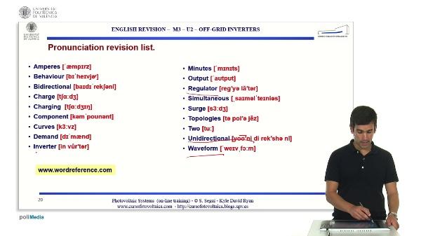 M3.U2.2. Off-grid inverters. English Grammar / spelling revision