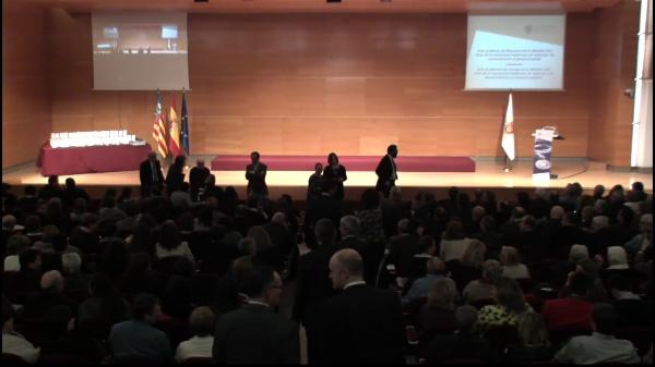Acto Académico de entrega de la Medala XXV Años de la Universitat Politècnica de València y de reconocimiento al personal jubilado