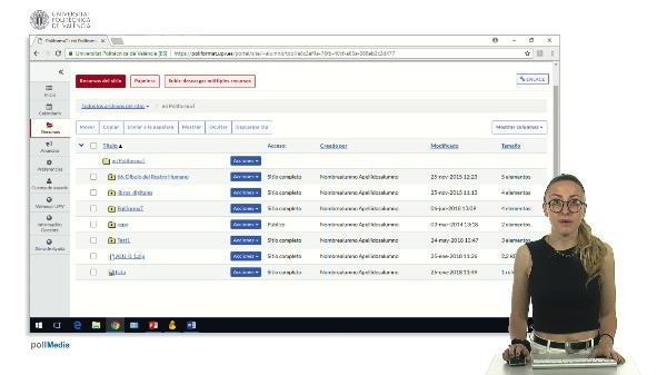 Subir y descargar múltiples ficheros de una asignatura en Poliformat