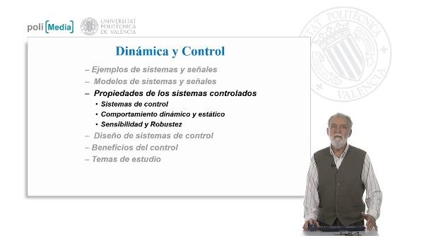 Propiedades de los sistemas controlados. Sistemas de control