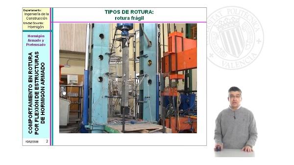 Comportamiento en Rotura por Flexión de Estructuras de Hormigón Armado