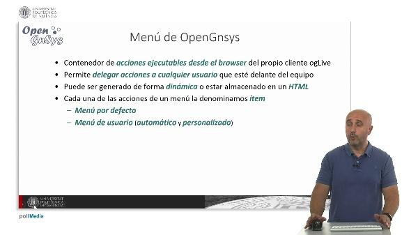 Menús automáticos y personalizados en OpenGnsys