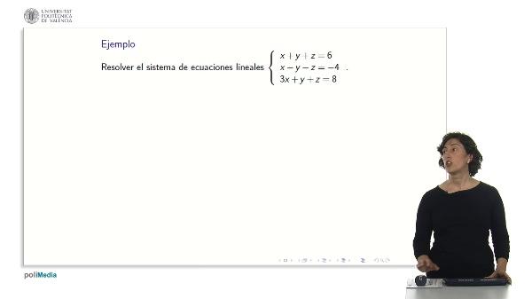 Ejemplos de sistemas de ecuaciones lineales con parámetros por el método de Gauss.