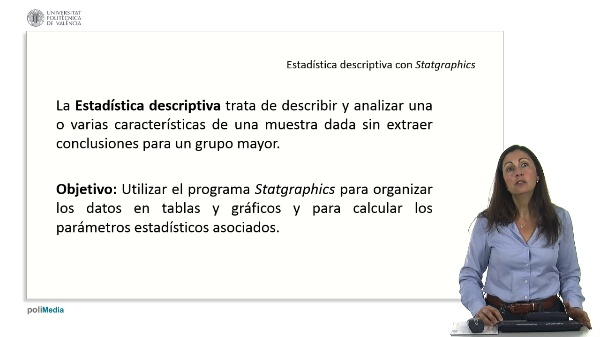 Estadistica descriptiva con Statgraphics