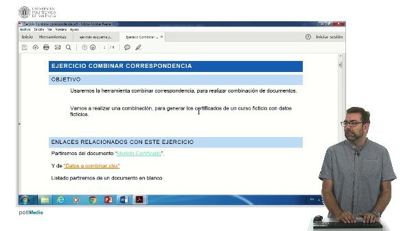 Ejercicio combinar correspondencia Word 2016