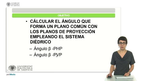 Cálculo del ángulo que forma un plano con los planos de proyección empleando el sistema diédrico