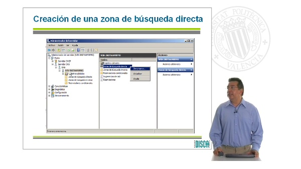Creación de zona de búsqueda directa en un Servidor DNS bajo Windows Server 2008 (RAL código 5862)