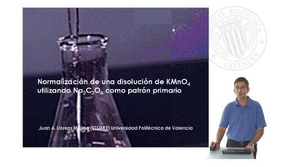 Normalización de una disolución de permanganato de potasio con oxalato de sodio