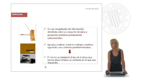 El dossier de obra en las artes visuales. Presentación y divulgación de obras de arte