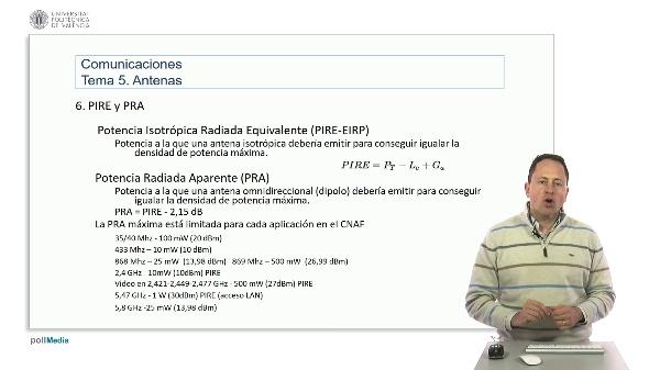 Introducción a las radiocomunicaciones. PIRE y PRA