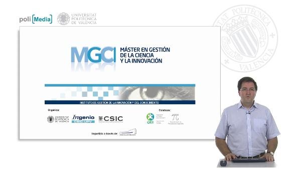 Presentación Máster en Gestión de la Ciencia y la Innovación (2012)