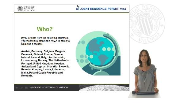 Student resident permit: Visa