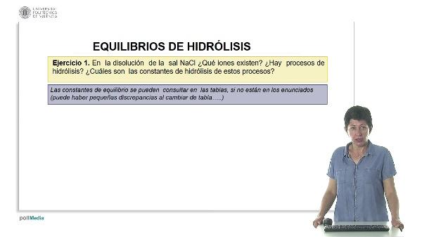 Lección 3. Equilibrio de hidrólisis (ejercicios).