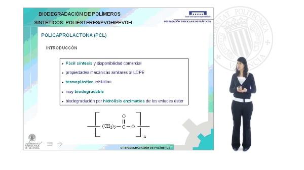 Biodegradación de polímeros sintéticos. Poliésteres/PVOH/PEVOH