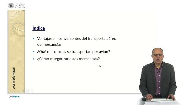 El mercado del transporte aéreo de mercancías.