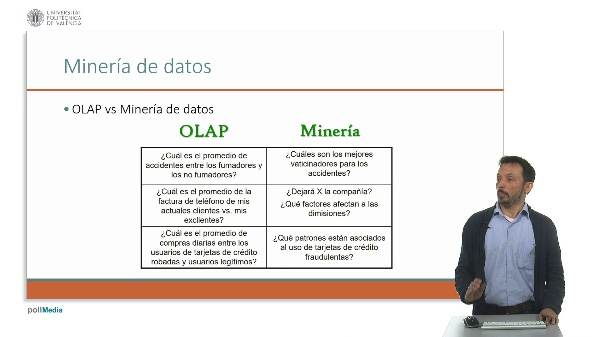 Video 1D3. OLAP vs Minería.