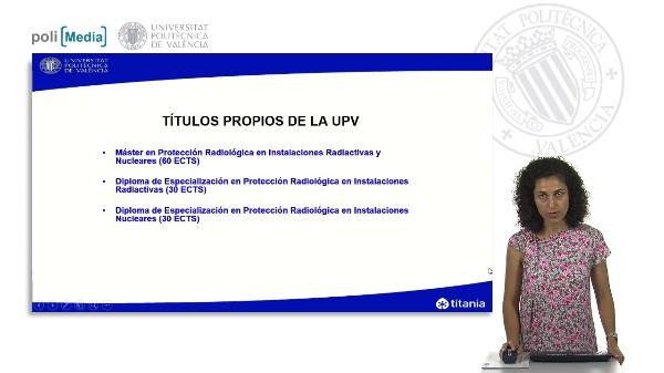 Presentación de los títulos propios en materia de protección radiológica. Edición 2013/2014