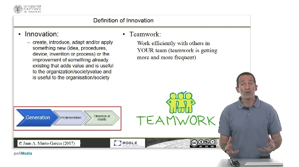 Teamwork and its relationship to innovation