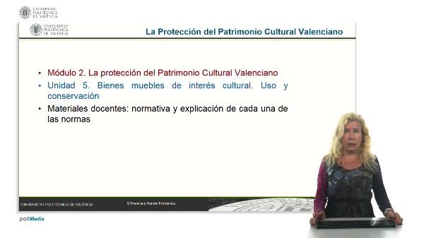La protección del patrimonio cultural valenciano. Módulo 2. Unidad 5