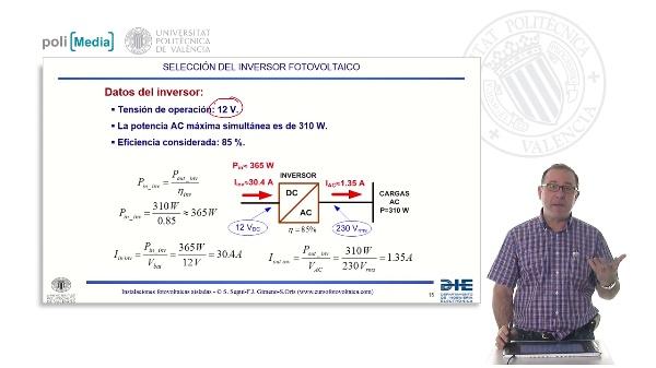 Electrificación rural a 12V. Selección del inversor fotovoltaico