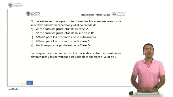 ITC MIE APQ-1: Protección con Agua (Art. 25)
