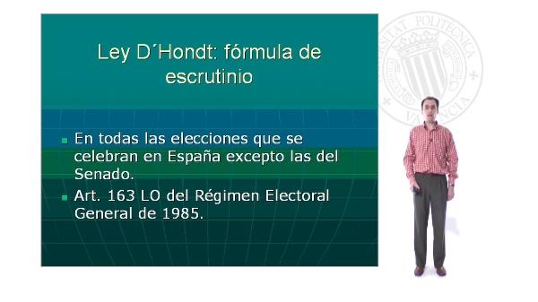 La ley D'Hont