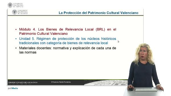 La Protección del Patrimonio Cultural Valenciano. Módulo 4. Unidad 5.