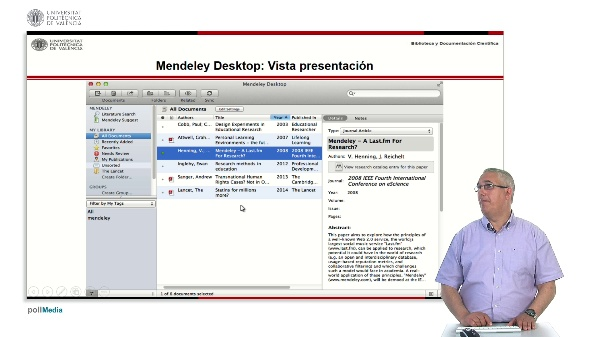 Gestión de referencias bibliográficas: Mendeley. Versión escritorio (Mendeley Desktop).